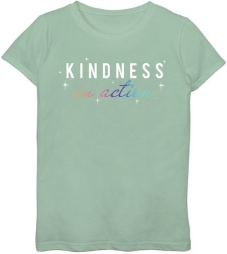 Fifth Sun Girls 7-16 Kindness In Action Graphic Tee