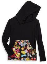 Zara Terez Girl's Emoji Printed Hoodie