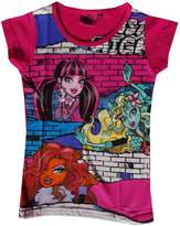 Monster High Official Girls Printed Short Sleeve Top Age 6 to 12 Years