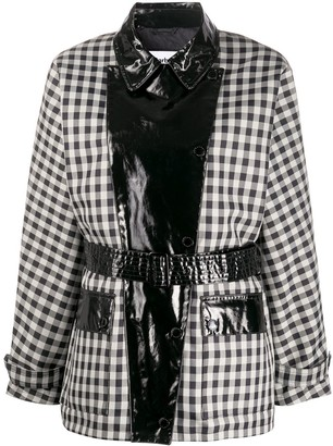 Barbour x Alexa Chung Ivy PVC-panelled gingham coat