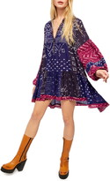 Free People Shibori Long Sleeve Tunic Dress