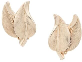 Susan Caplan Vintage 1970's Bergere Leaf earrings