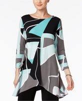 Alfani Colorblocked High-Low Tunic Top, Created for Macy's