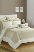 Bathilda Hotel Collection Modern Two-Tone Reversible 10-Piece Bed In a Bag Comforter Set - Beige