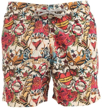 MC2 Saint Barth Gustavia Azala Tattoo Print Swim Shorts