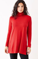 J. Jill Perfect Pima Side-Vent Turtleneck Tunic