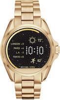 Michael Kors Access Unisex Digital Bradshaw Gold-Tone Stainless Steel Bracelet Smartwatch 45mm MKT5001