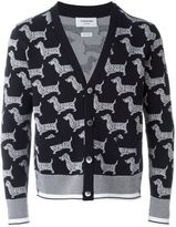 Thom Browne dog patterned cardigan