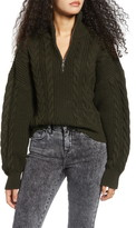 Urban Outfitters Bdg Half-Zip Cable Sweater