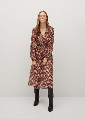MANGO Ethnic print dress red - 2 - Women