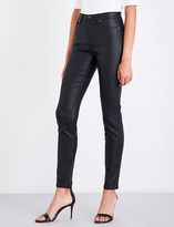 Armani Jeans Waxed-effect skinny high-rise jeans