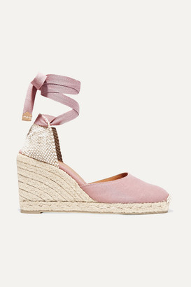 Castaner Carina 80 Canvas Wedge Espadrilles - Purple