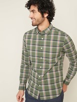Old Navy Regular-Fit Built-In Flex Plaid Everyday Shirt for Men