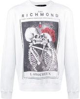 John Richmond skull print sweater - men - Cotton/Spandex/Elastane - S