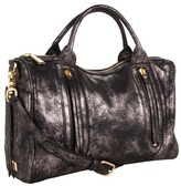 Botkier Aldyn Satchel (Metallic Black Cowhide/Satin Brass) - Bags and Luggage