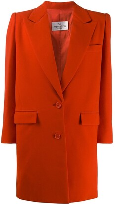 Valentino Pre-Owned 1980's Structured Elongated Blazer