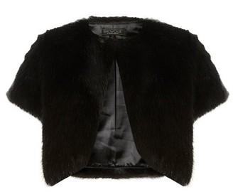 Dorothy Perkins Womens **Showcase Black Faux Fur Bolero, Black