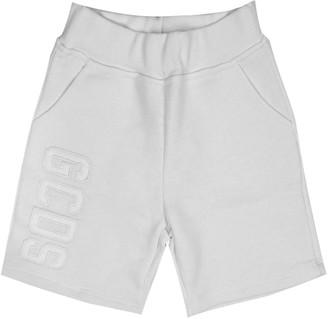 GCDS White Cotton Shorts
