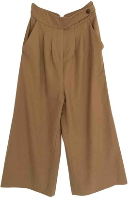 Whistles Beige Wool Trousers for Women