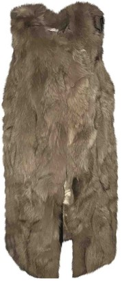 Gerard Darel Beige Fox Coat for Women