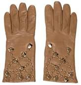 Diane von Furstenberg Leather Embellished Gloves