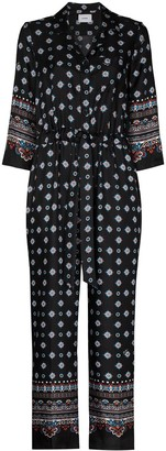 Erdem Truman geometric-print silk jumpsuit