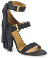 Chloé Maya Tasseled Suede Block Heel Sandals
