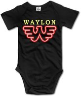 Sertroco Novelty Baby Onesie Waylon Jennings Flying Retro Buddy Holly Short Sleeve Bodysuit