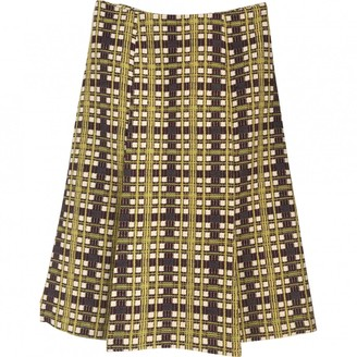 Laura Urbinati Yellow Wool Skirt for Women