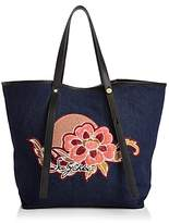 See by Chloe Andy Embroidered Canvas Tote