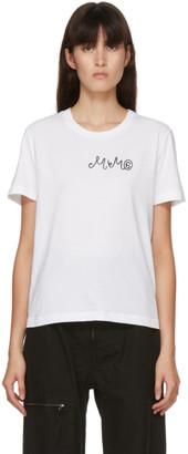 MM6 MAISON MARGIELA White Embroidered Logo T-Shirt