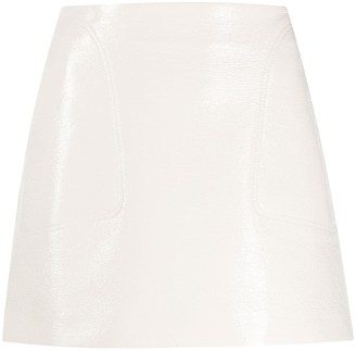 Courreges Patent Mini Skirt