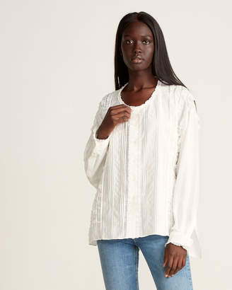 Faith Connexion Oversized Silk Lace Blouse