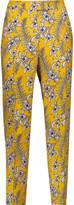 Oscar de la Renta Floral-print silk tapered pants