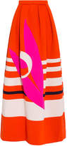 DELPOZO Neoprene Maxi Pattern Skirt