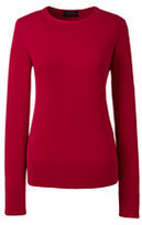 Classic Women's Supima Sweater-Radiant Navy/Red Orange