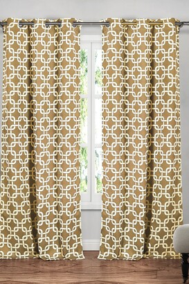 Duck River Textile Kristin Blackout Grommet Curtain - Set of 2 - Wheat