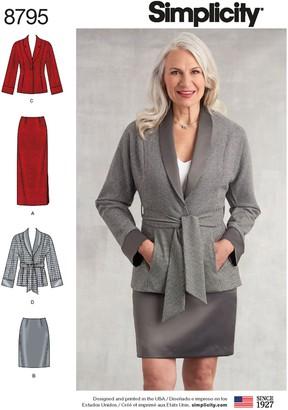 Simplicity Women's Sportswear Jacket and Skirt Sewing Pattern, 8795