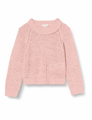 Name It Girls' NKFKORRY LS Short Knit Sweater