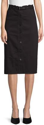 Elizabeth and James Merritt Button Front Midi Skirt