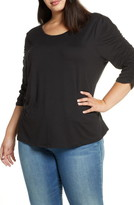 Kiyonna Reverie Ruched Sleeve Top