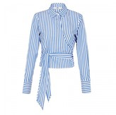 Camilla And Marc holt stripe wrap shirt
