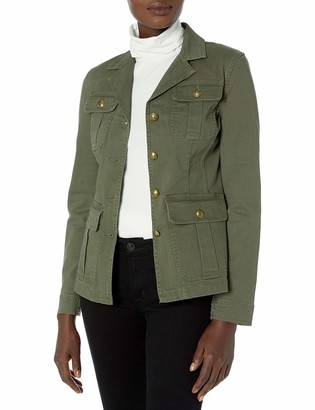 Chaps Women's Stretch Cotton Twill Utility Jacket