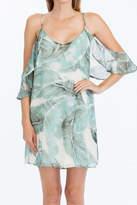 Olivaceous Palm Leaf Dress