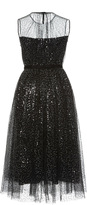 Dice Kayek Embellished Tulle Midi Dress