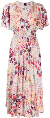 Pinko Floral Print Elasticated Dress