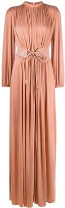 Elisabetta Franchi Belted Gathered Gown