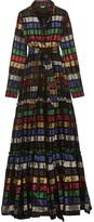 Dodo Bar Or - Metallic Fil Coupé Organza Maxi Dress - Claret