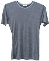 Saint Laurent Grey Viscose T-shirt