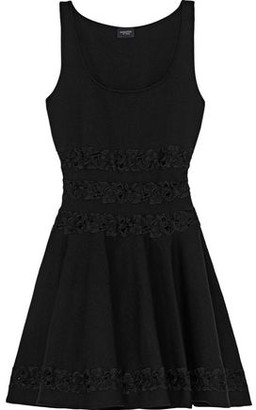 Giambattista Valli Guipure Lace-trimmed Ponte Mini Dress